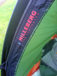 Hilleberg Akto pitched at Crowden Campsite