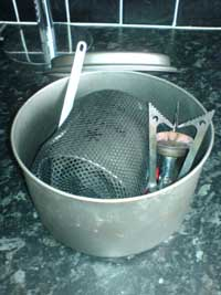 Pocket Rocket, Mug and Mug Mate in an MSR Titanium Pot
