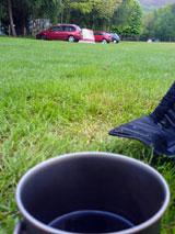 Tea at Crowden campsite