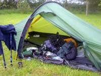 The Hilleberg Akto during a trip on the West Highland WAY