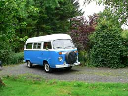 Dylan, owned and maintained by Escape Campers, based near Glasgow. Image is copyrighted Escape Campers