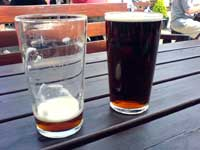 Two pints of Old Man at the Black Bull Inn