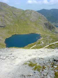 The tourist track off the Old Man down to Levers Water