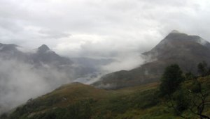 A misty, wet day climing the Pap of Glencoe
