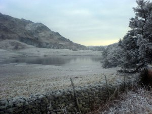 Blea Tarn, frozen, New Years Day, 2008