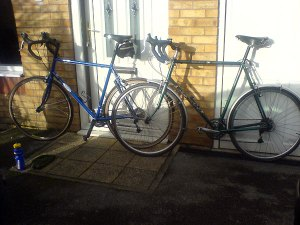 Thorn Audax Mk 3 600L next to the Dawes Galaxy 531 ST in 62cm