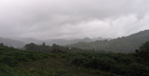 And the rain came down... the view from Loughrigg Terrace