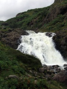 Sourmilk Gill a raging torrent