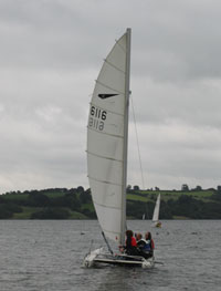 Sailing on Carsington Water