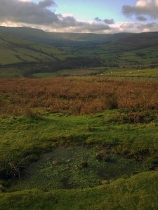 A view up the Vale of Edale above Hope