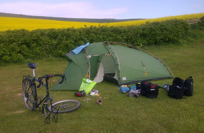 Cycle camping on the C2C with my Thorn Club Tour and Vaude Hogan XT