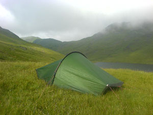 Wild camping in the Akto at Grisedale Tarn