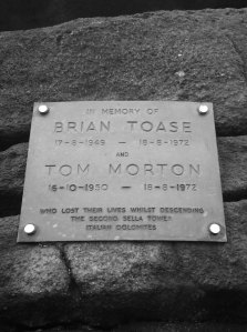 Brian Toase Tom Morton memorial plaque