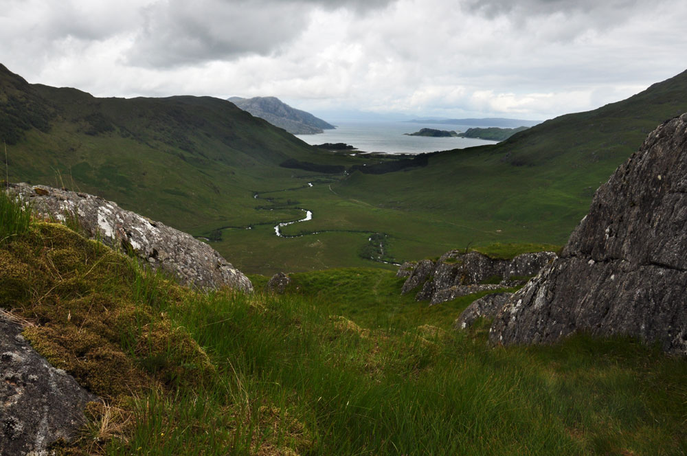 Looking towards Inverie from the ridge