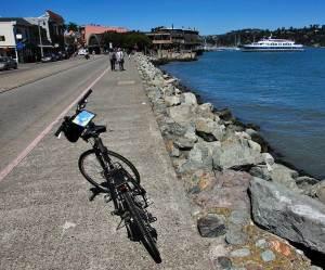 Bike parked on Bridgeway at Sausalito