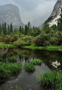 Mirror Lake in the Yosemite Valley