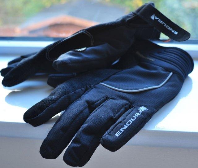 Endura Strike II Long Finger Road Cycling MTB Winter Waterproof Gloves Hi Viz
