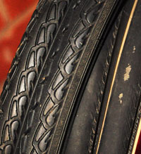 Tyres of cycle touring