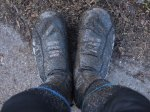Mud on overshoes on Middlewood Way
