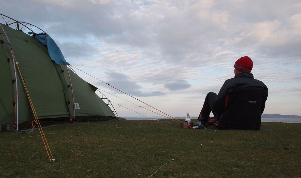 A great spot to camp for the night on Berneray
