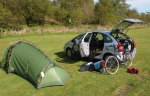 Breaking camp at the Oban campsite