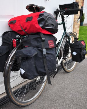 Thorn Club Tour loaded with Caradice panniers