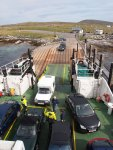 Packing them in on the Leverburgh ferry