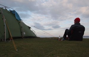 Vaide Hogan XT and Thermarest chair on Berneray