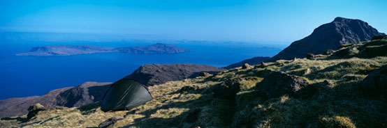 Wild camp on the summit of Hallival Colin Prior