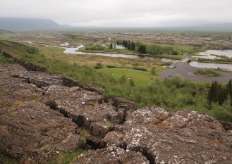 Looking across Pingvellir valley