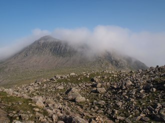 Bowfell appears out of the cloud