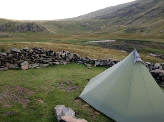 Camp Dale Head Tarn... hardly original, but dry spots are hard to find