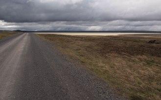 Kjolur landscape becomes barren