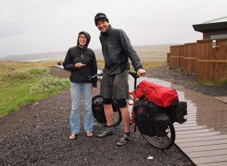 Barb and me at Gulfoss