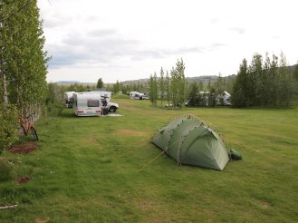 The campsite at Geysir