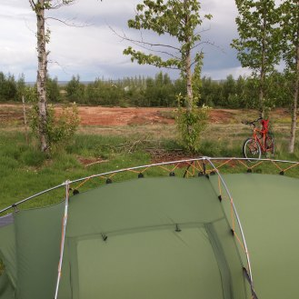 You are not far from the geothermal action at Geysir campsite