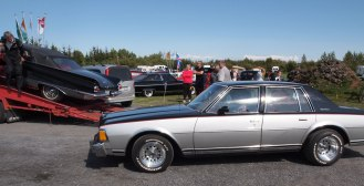 Classic American car show at Selfoss