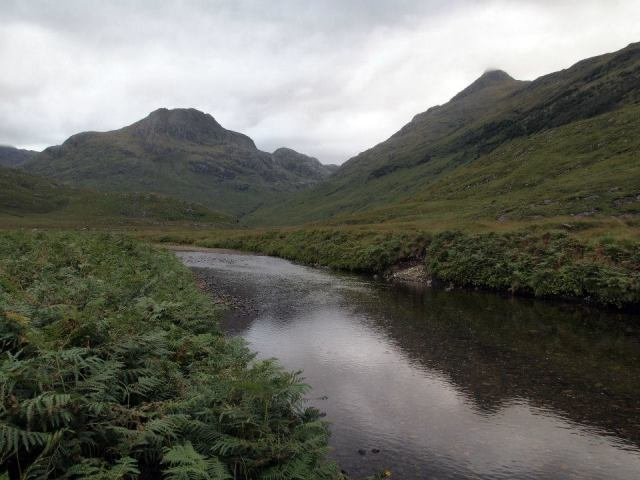 Sgurr Na Ciche and Ben Aden from the River Carnach