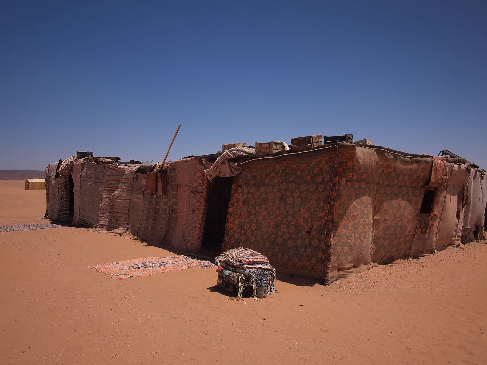 Our bivouac in the Sahara