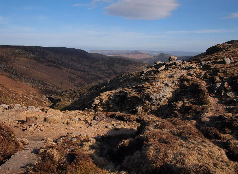The top of Grindsbrook and our route off the plateau