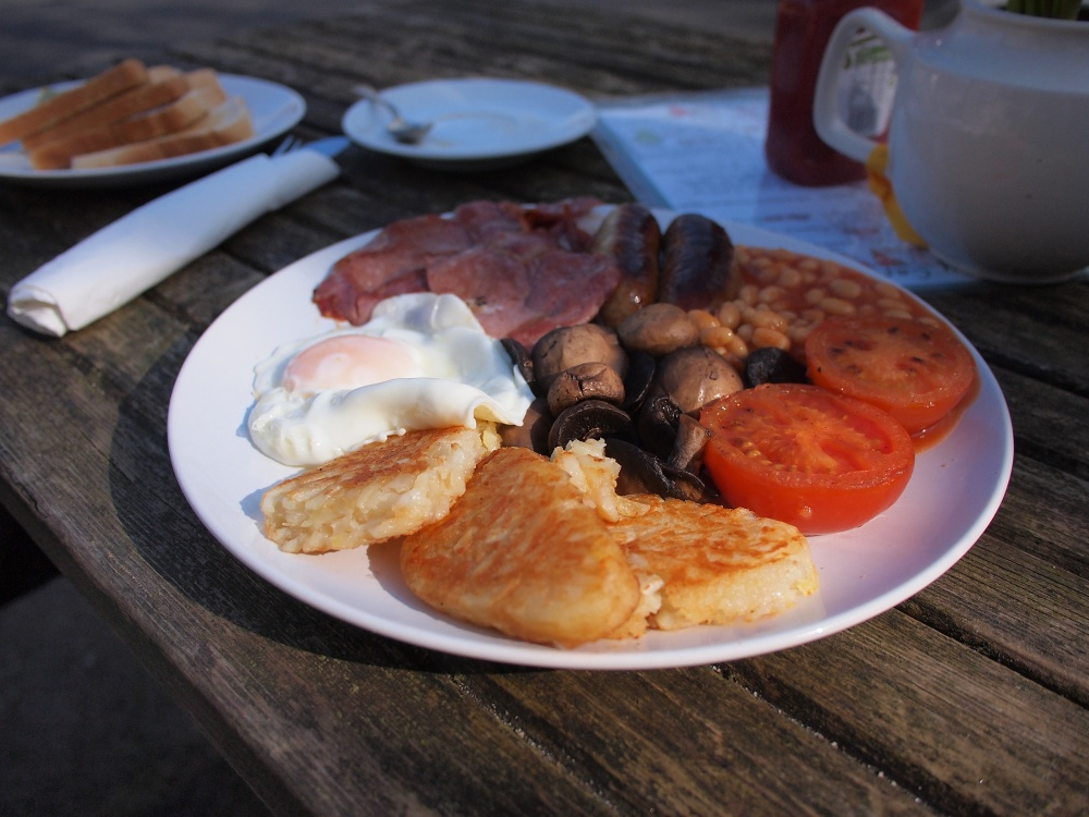 Breakfast at the Sett Valley Cafe in Birch Vale