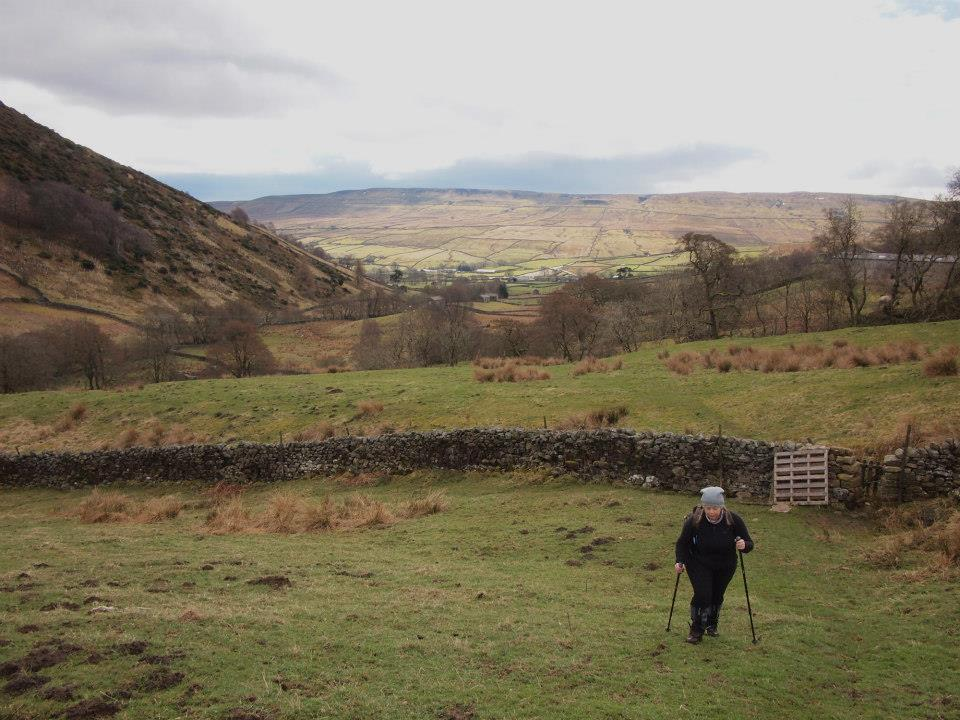 Climbing out of Swaledale