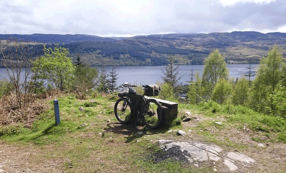 High above Loch Ness on the Great Glen Way