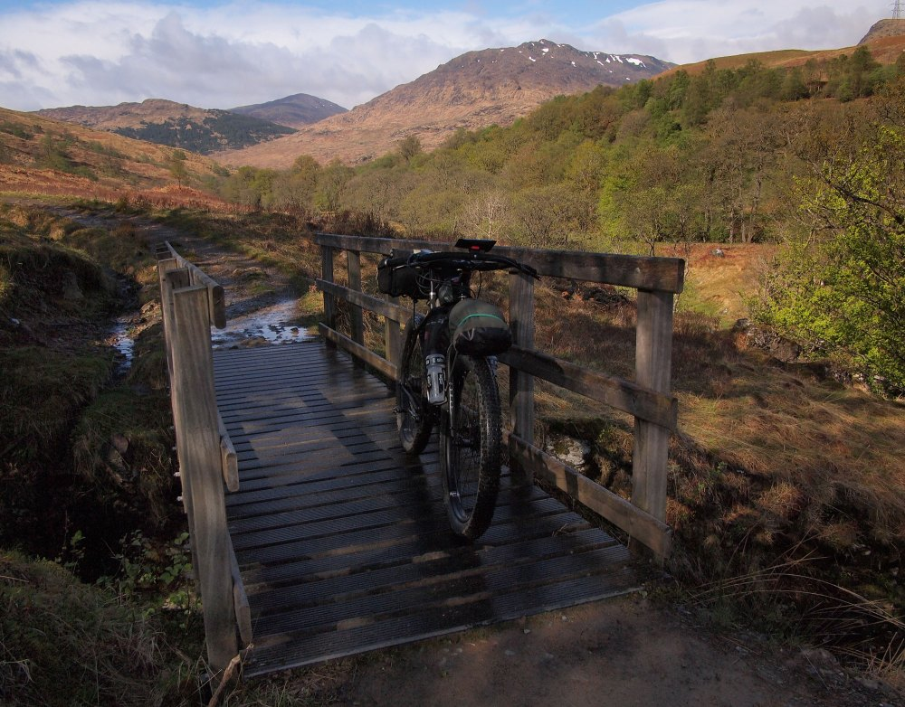 Pedalling the West Highland Way in Glen Falloch