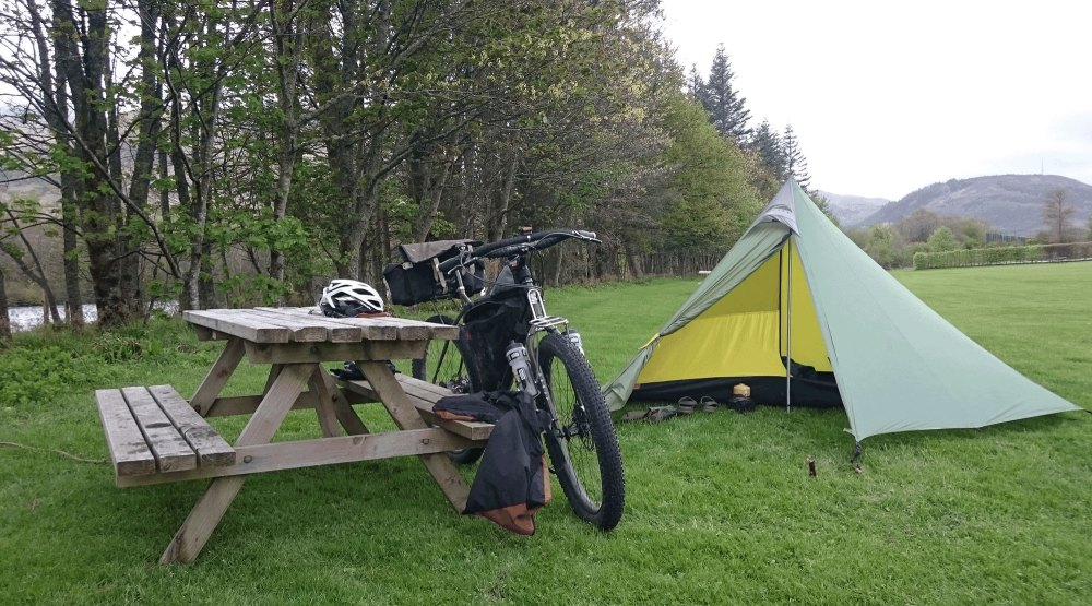 Lochy Holiday park campsite... it rained and rained and rained