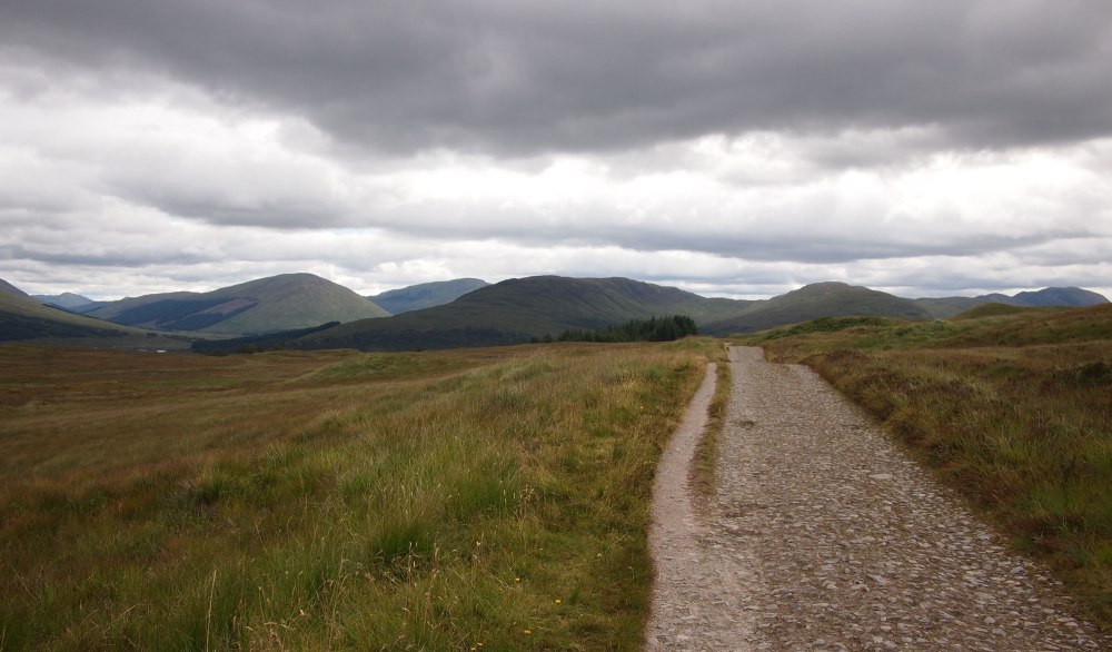 The drovers' road across Rannoch Moor can be hard on the feet