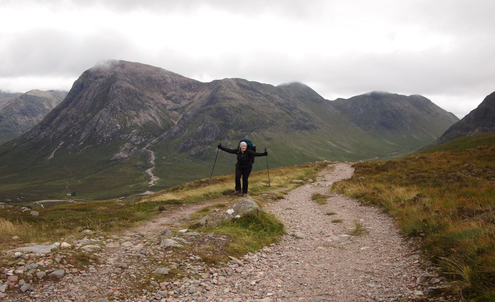 Jubilation at the top of the Devil's Staircase - not at all as hard as it may sound