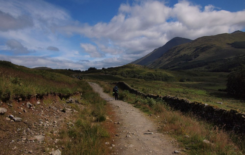 Pressing on through Glen Falloch - the busy road had little impact on the surroundings in such glorious weather