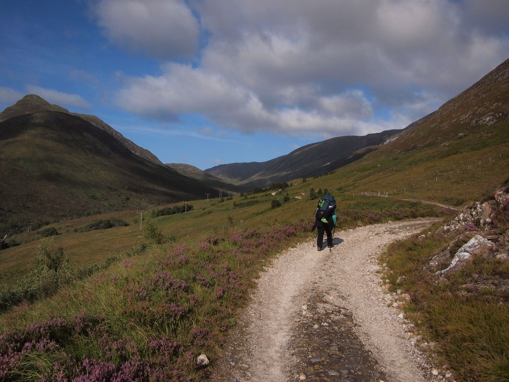 After a steep climb out of Kinlochleven, the Way enters it's most impressive stretch (for me)