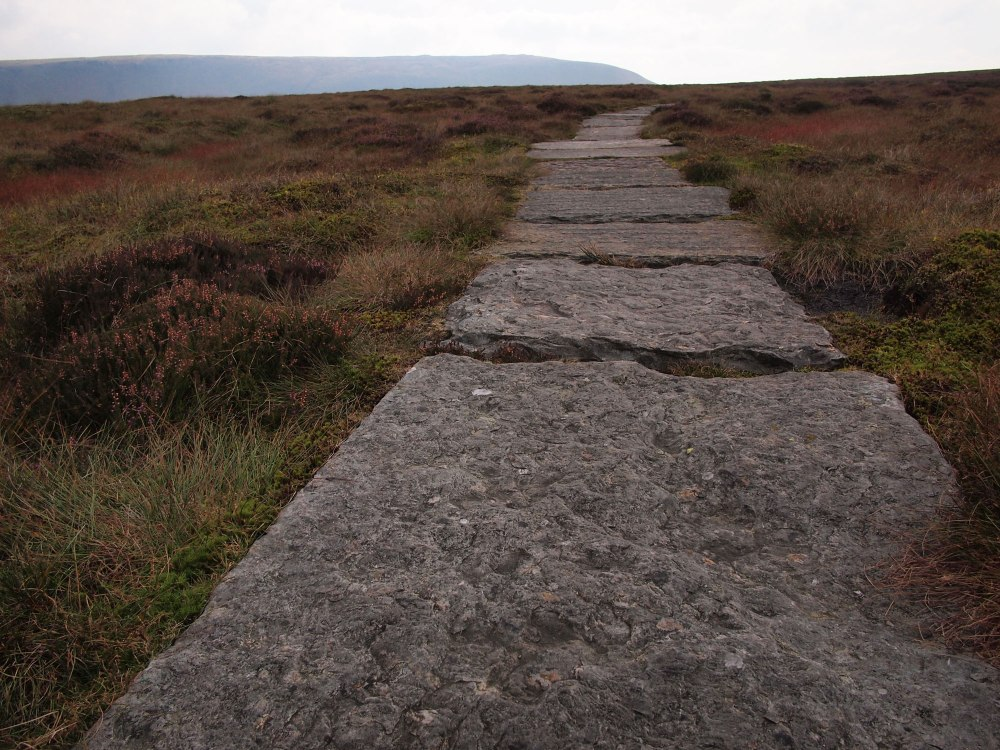 Slabs of the Pennine Way - easing passage across some boggy expanses